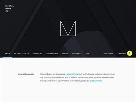google design framework material design lite framework freebiesbug