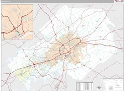 zip code map knox county tn knox county tn wall map premium style by marketmaps