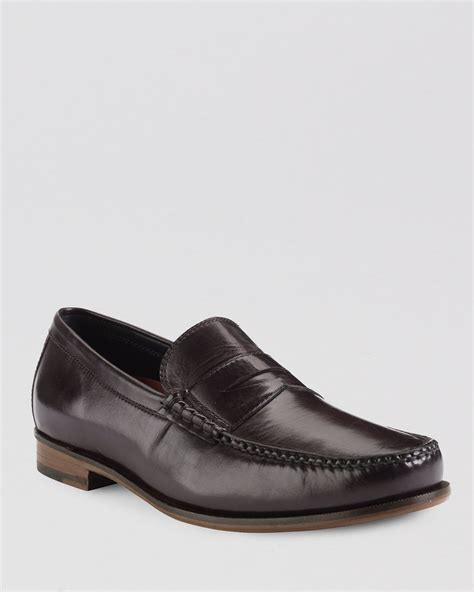 cole haan loafers cole haan hudson leather loafers in brown for