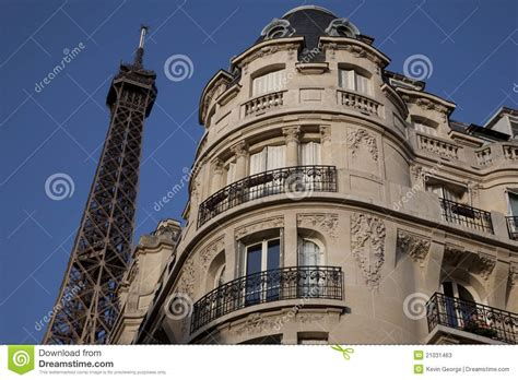 Eiffel S Apartment Eiffel Tower Eiffel Tower And Apartment Building Stock Photos