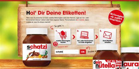 Nutella Aufkleber Mit Namen by 187 F 252 R Dein Ganz Pers 246 Nliches Nutella Glasworld Of