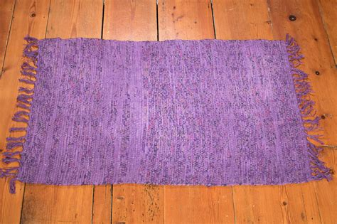purple rag rug rr512 purple rag rug 60x90cm