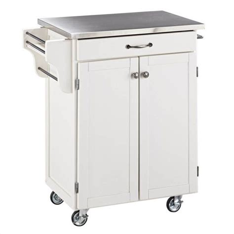 Stainless Steel Carts Kitchen by White Kitchen Cart With Stainless Steel Top 9001 0022