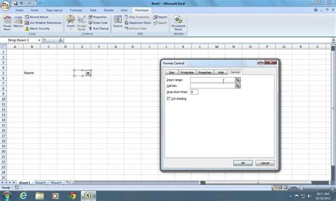 how to box a how to add excel 2007 combo box