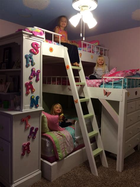 diy girls bed diy triple bunk bed girls room for the girls