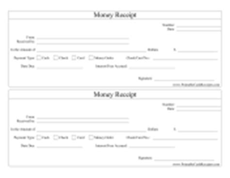 printable receipts