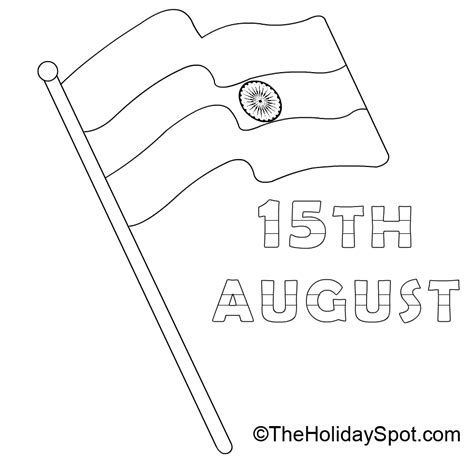 Indian Independence Day Coloring Pages by Pictures To Color On Indian Independence Day