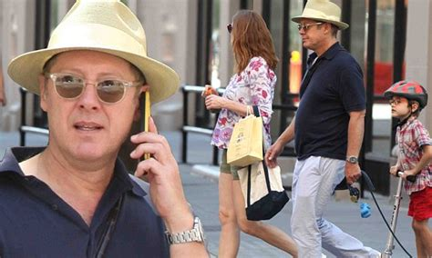 james spader father james spader heads out in new york with son nathaneal and