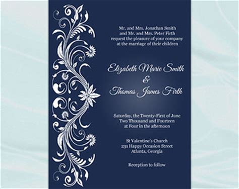 invitation card design with editable view wedding invitations by weddingprintablesdiy on etsy