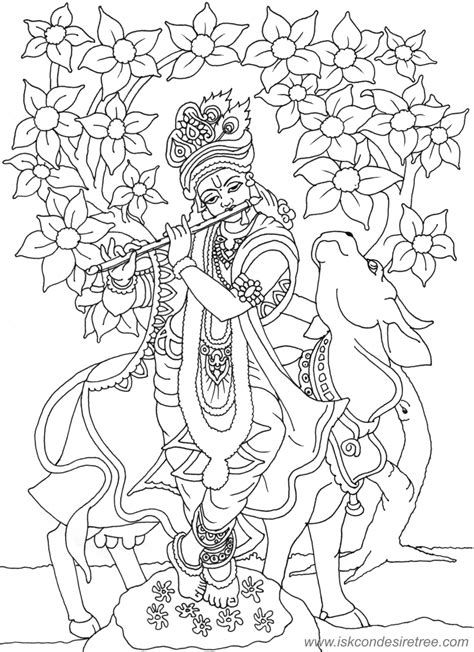 Lord Krishna Pencil Coloring Pages Lord Krishna Coloring Pages