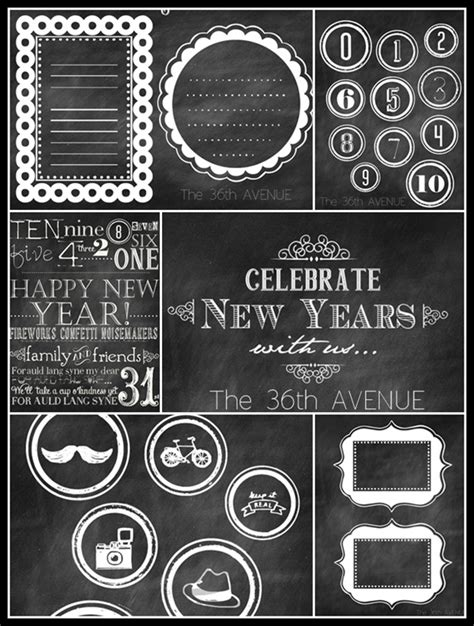 new year name tags the 36th avenue chalkboard free printables the 36th avenue