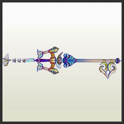 kingdom hearts ii wishing l keyblade free papercraft