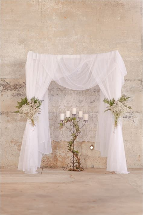 Wedding Arch Lace by Wedding Arch Draped In Tulle And Lace Aisle Style
