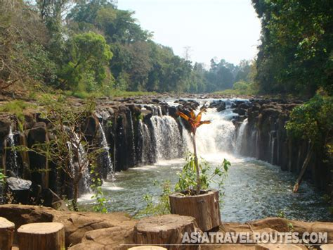 Sitting Benches by Tad Pha Suam Waterfall Pakse Champasak Laos