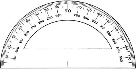 protractor template to print free coloring pages of black protractor