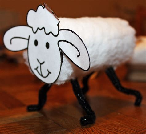 Craft Toilet Paper Rolls - sheep toilet roll craft preschool crafts for