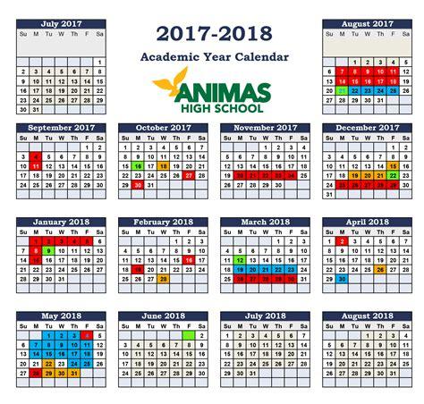 High School Calendar School Calendar Animas High School