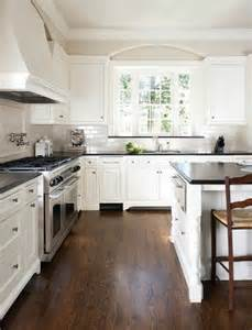 White Kitchen Cabinets Wood Floors by Floors White Walls Addict