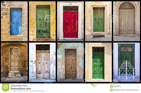 colorful doors collage stock photo image 41305174 collage of colorful antique maltese doors stock photo