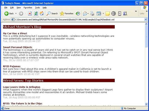 xml tutorial with exles displaying a news feed xml