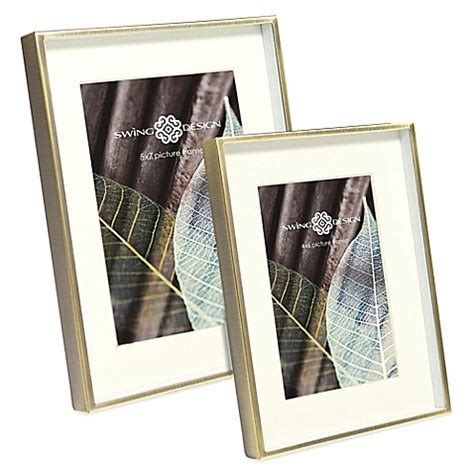 swing design picture frames swing design brass deep picture frame bed bath beyond