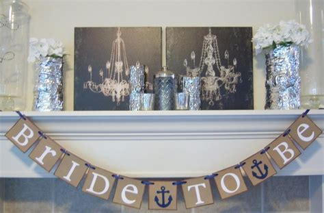 Nautical Wedding Banner by Bridal Shower Banner Nautical Anchor To Be Banner
