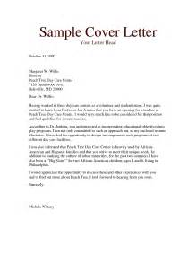 cover letter for school position cover letter design great sle cover letter for