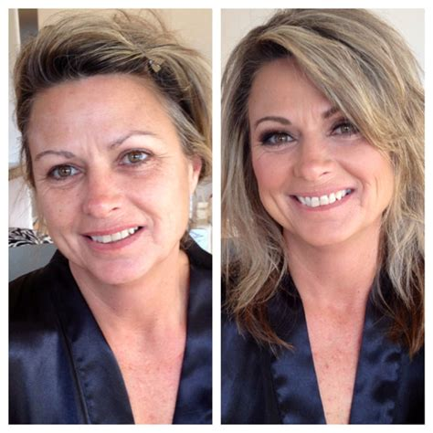 women over 45 make over before and after hair and makeup portfolio