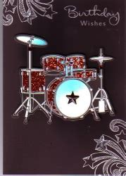 Personalised Braille Birthday Wishes 3D Raised Drum Kit