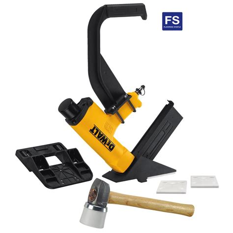 dewalt pneumatic 15 5 gauge hardwood flooring stapler dwmiiifs the home depot
