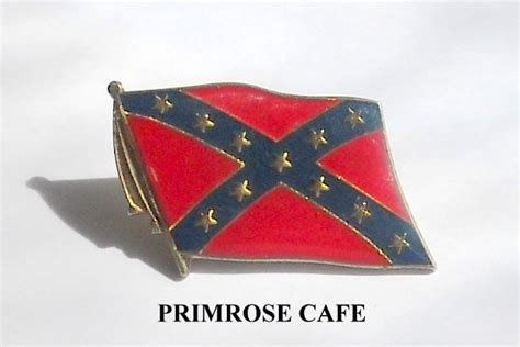 vintage confederate rebel flag tie tac pin