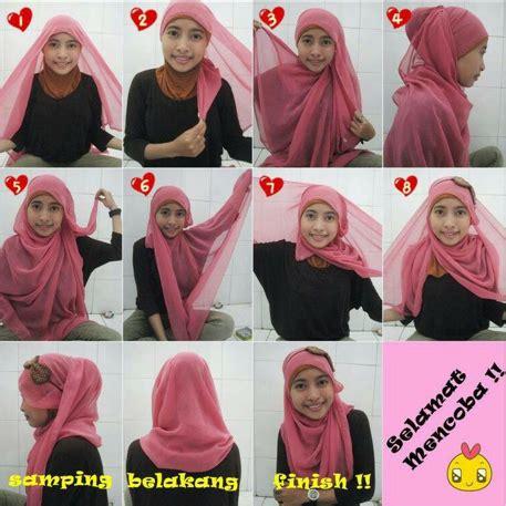 tutorial hijab segi empat dengan headband cara memakai jilbab kreasi tutorial hijab segi empat terbaru