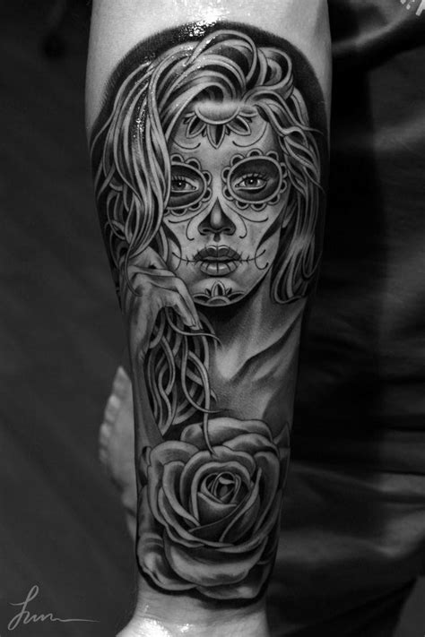 tattoo neck girl walking dead impressive black and grey living dead girl tattoo done by