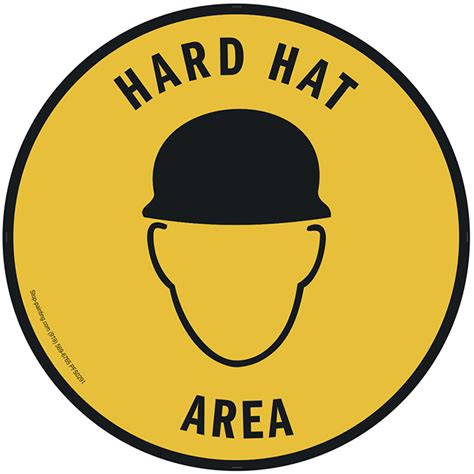printable hard hat area sign hard hat area floor sign