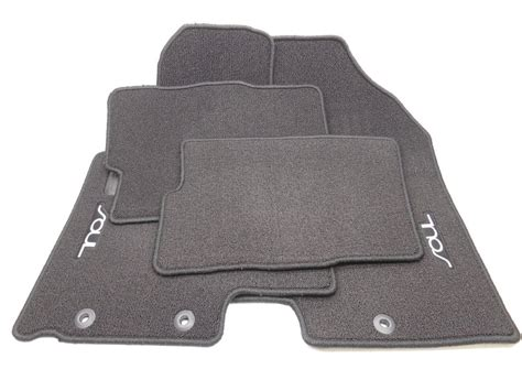 new oem 2010 2013 kia soul carpet floor mat set of 4 black ebay