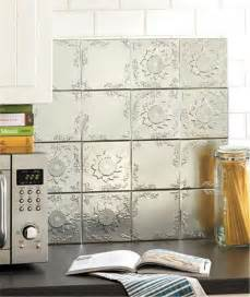 16 piece self adhesive embossed raised pattern tin wall backsplash tiles 4 sq ebay
