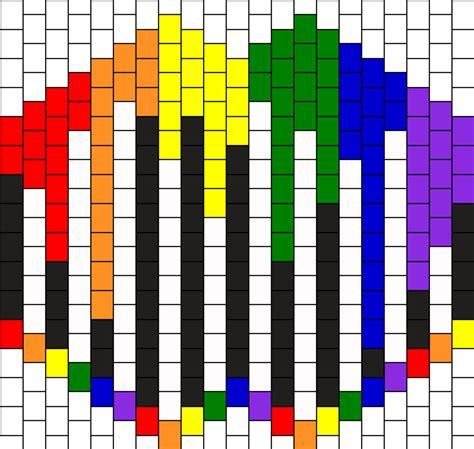 black and white kandi mask pattern black and white melting rainbow kandi mask bead pattern