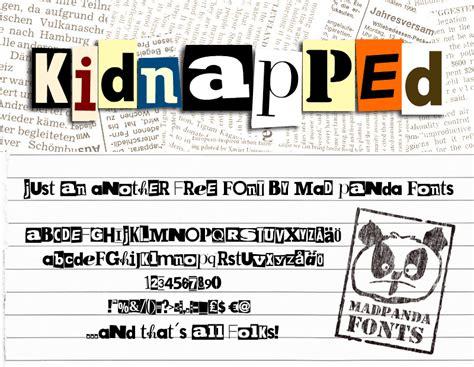 dafont license mpf kidnapped font dafont com