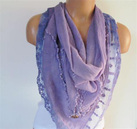 Pashmina Cotton Scarf Murah lilac triangle scarf with lace shawl scarf cotton scarf new season fall fashion pashmina scarf