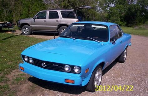 Bright Blue 1975 Opel Manta 1 9 German Cars For Sale Blog