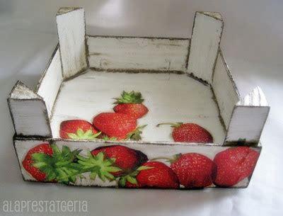 tutorial caja fruta decoupage alaprestatgeria decoupage en una caja de frutas