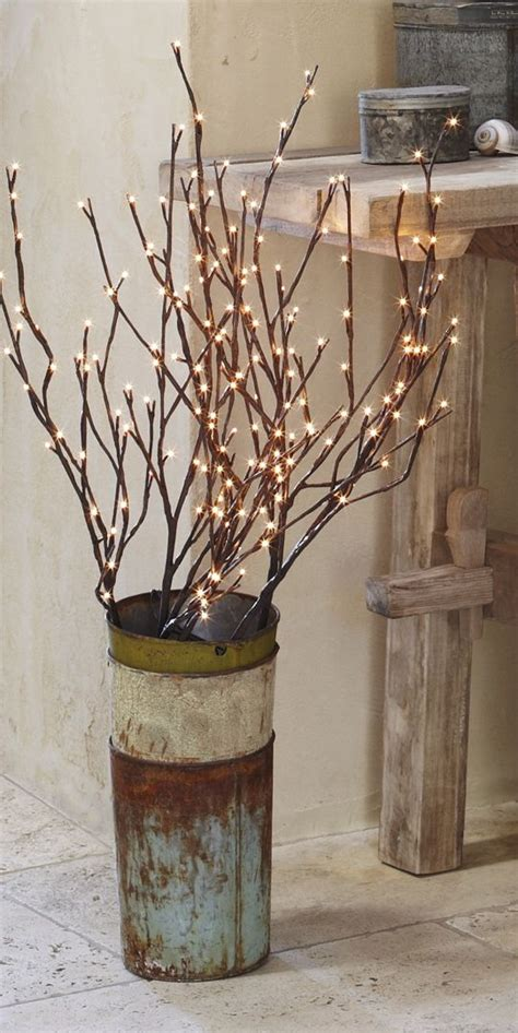 Twig Lights In Vase by 25 Unique Lighted Branches Ideas On Rustic