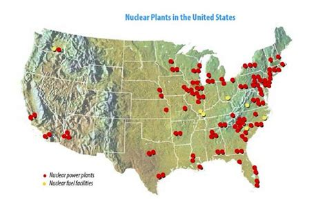 map of nuclear power plants in the usa mrs carr s 6th grade energy project uranium nuclear