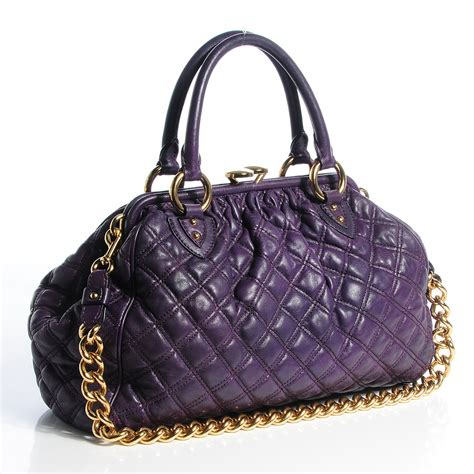 marc quilted leather stam purple 78401