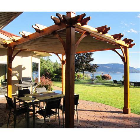 Outdoor Living Today Bz810wrc 8 Ft X 10 Ft Breeze Pergola Lowes Pergola Canopy