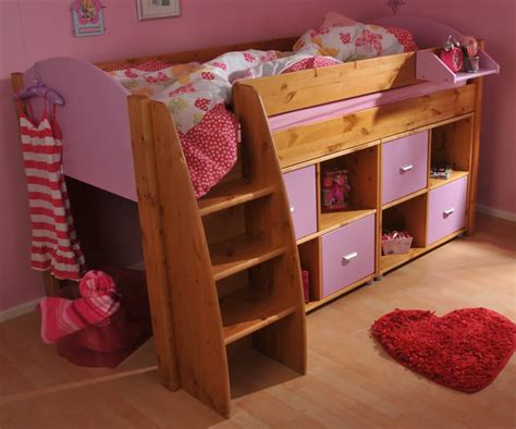 Stompa Mid Sleeper Cabin Bed by Stompa Rondo 4 Mid Sleeper Cabin Bed With Storage Cupboards