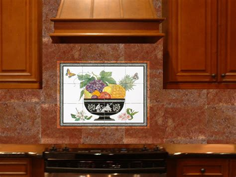 hand painted tiles for kitchen backsplash fruitbowl backsplash in kitchen