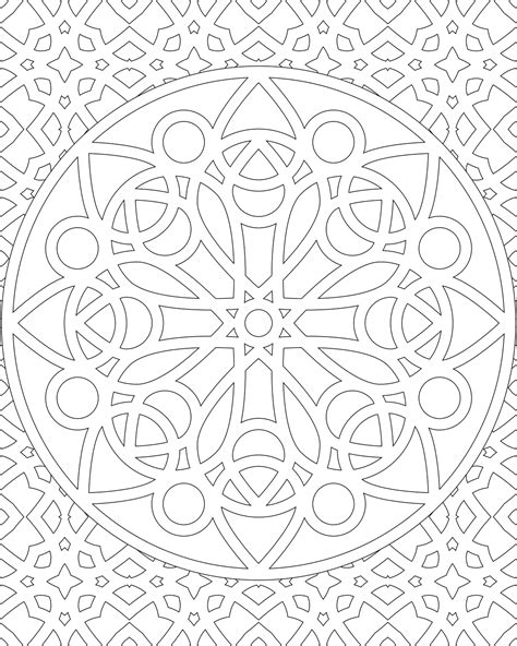 color by numbers coloring book of mandalas a mandalas and designs color by number coloring book for adults for stress relief and relaxation color by number coloring books volume 25 books free printable mandala coloring pages image number 17
