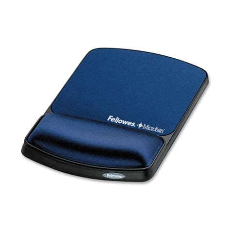 fellowes gel mouse pad with wrist rest sapphire 1 each