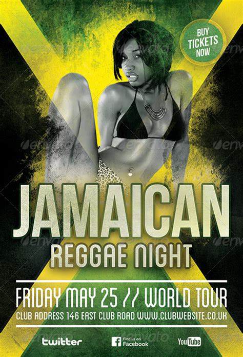 flyer design jamaica reggae party flyer template by cause graphicriver